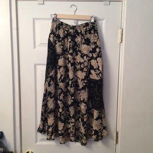 Vintage floral skirt.